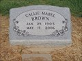 Image for 101 - Callie Mabel Brown - Callisburg Cemetery - Callisburg, TX