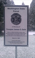 Image for Trooper James S. Gain Memorial Sign - Gee Creek Rest Area
