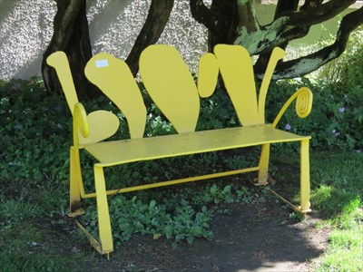 Yellow Bench, SFSU, San Francisco, California