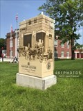 Image for Fire Department Headquarters - Early 1900s decorated utility box - Newton Centre, Massachusetts