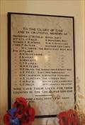 Image for WWI Memorial Plaque - St Peter & St Paul - Newnham, Kent