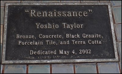 Plaque describing materials and date placed