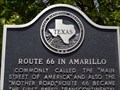 Image for Route 66 in Amarillo -  Historic Marker - Texas, USA.