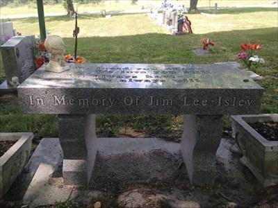 Jim Lee Isley dedicated bench, by MountainWoods