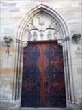 Image for Doorways of Saint Grégoire's church, Ribeauville, Haut-Rhin/FR