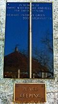 Image for Afghanistan-Iraq War Memorial - South Street - Chester, Nova Scotia