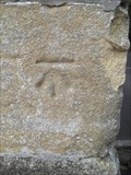 Image for Cut Bench Mark, Cathedral Music School Entrance Gate Post, Cathedral Green, Wells, Somerset.