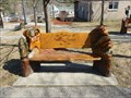 Image for Wildlife Themed Wood Carved Dedicated Bench - Otis, MA