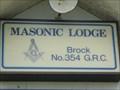 Image for MASONIC LODGE  -  Brock No. 354 GSC