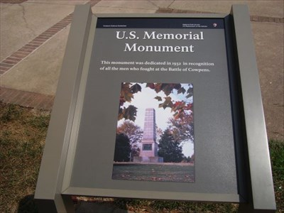 Battle of Cowpens U.S. Memorial Monument - Chesnee, South Carolina