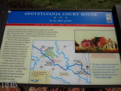 One of two CWDT markers at Spotsylvania Court House -- In the Path of War