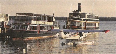 This is the Walworth II, the mail boat - delivers mail to the dock of the rich and famous around the lake.