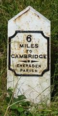Image for Milestone - Cambridge Road, near Harlton, Cambridgeshire, UK.