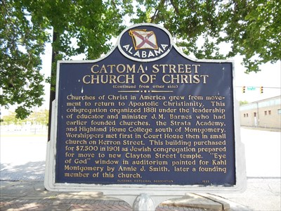 Catoma Street Church of Christ side