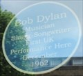 Image for Bob Dylan Blue Plaque - Grays Inn Road, London, UK