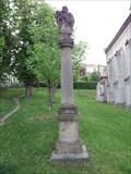 Image for Column with statue of st. John of Nepomuk, Libušín, Czechia