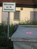 Image for Müllcontainer nur für Markthändler - Werdohl, NRW, Germany