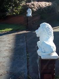 The pair of recumbant lions. 0737, Thursday, 27 December, 2018
