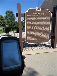 Wisconsin historical marker about geological formations.