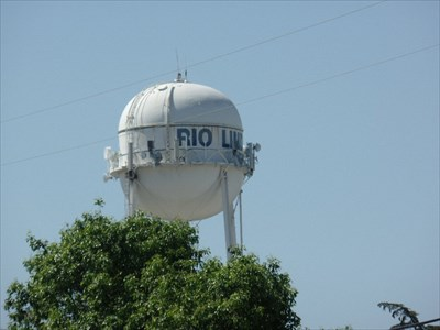 The Rio Linda water tower is visible from the Lodge entrance.