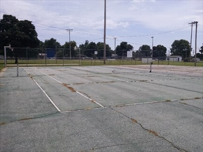 Tennis Court at Stebbins Memorial Park, by MountainWoods