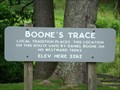 Image for Boone Trace  Marker Elevation Sign - Boone, North Carolina
