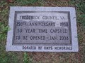 Image for Frederick County-Virginia 250th Anniversary Time Capsule, Winchester, Virginia