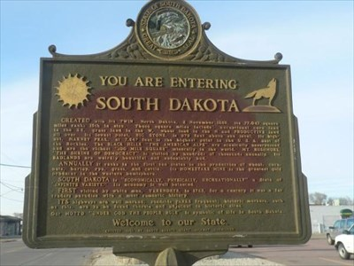 Welcome to South Dakota Historic Marker in North Sioux City, SD