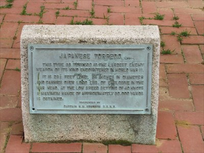 Japanese Torpedo Plaque, US Naval Academy, Maryland