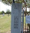Image for Book of John (John 15:5) - Clinton Cemetery Gate - Clinton, TX