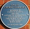 Image for Apsley Cherry-Garrard Blue Plaque - Lansdowne Road, Bedford, UK