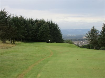 The third hole plays back up the hill towards the highest point.