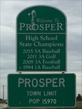 Image for Prosper Population Sign Texas
