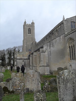 ...the church from the entrance path.