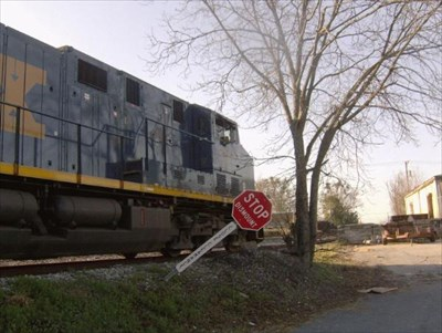 This is another view of the CSX engines.