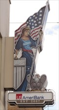 "Image for USAmeriBank installs historic ""Lady Columbia"" sign - Ybor City, Florida, USA."