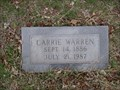Image for 100 - Carrie Warren - Summit View Cemetery - Guthrie, OK