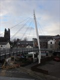 Image for Suspension Bridge, Eagles Meadow, Yorke Street, Wrexham, Wales, UK