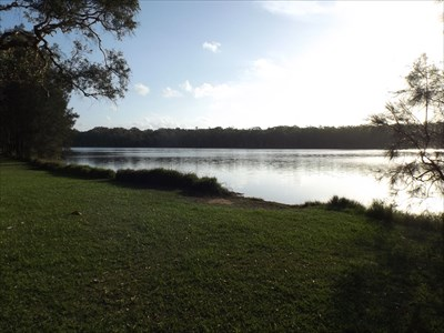 The view in Elouera Park, Forster Keys, NSW