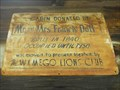 Image for Historic Log Cabin Sign - Wamego Museum - Wamego, KS