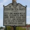 Image for Edenton Tea Party, Marker A-22