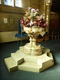 Image for Baptism Font -  Parish Church of All Saints Odd Rode - Scholar Green, Cheshire East, UK.