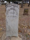 Each headstone faces away from the other.