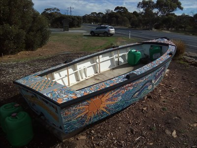 A 'stern-view' of the Mosaic Boat. 1511, Tuesday, 29 May, 2018