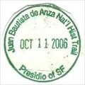 Image for Juan Bautista de Anza National Historic Trail-Presidio of SF - San Francisco, CA