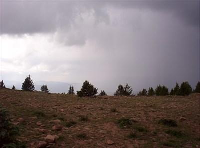 Still raining when we hit the summit