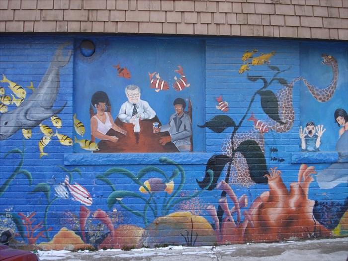 Lakeshore aquarium mural toronto ontario canada for Aquarium mural
