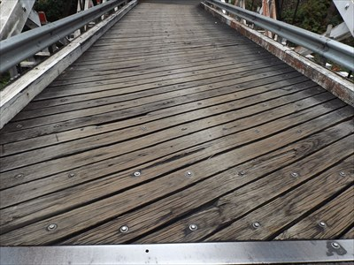 Tunks Creek Wooden Truss Bridge Hornsby Nsw Australia Plank