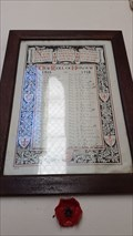 Image for Roll of Honour - Christ Church - Hulland, Derbyshire