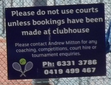 A cropped section of the photo, showing the contact details. 28/2/2016